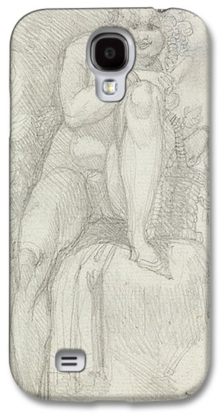 Swiss Drawings Galaxy S4 Cases - An Hermaphrodite Galaxy S4 Case by Henry Fuseli