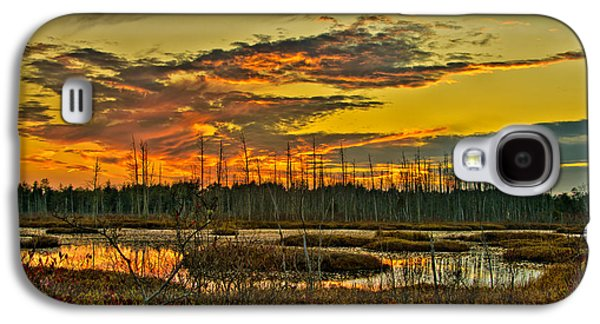 An November Sunset In The Pines Galaxy S4 Case by Louis Dallara