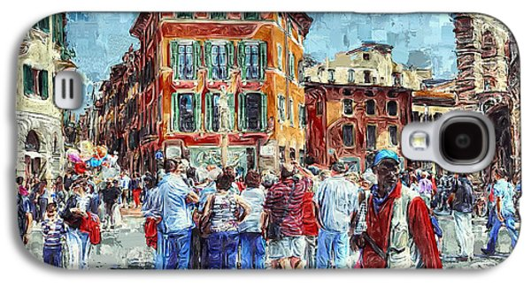 Old Town Digital Art Galaxy S4 Cases - An Old Town Tourist Route Galaxy S4 Case by Yury Malkov