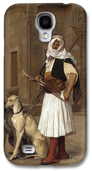 Anaute Avec Deux Chiens Whippets, 1867 Galaxy S4 Case by Jean Leon Gerome