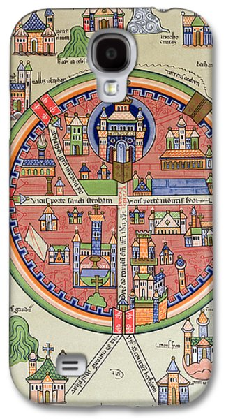 Ancient Map Of Jerusalem And Palestine Galaxy S4 Case by French School