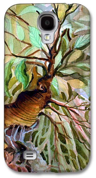 Tree Roots Mixed Media Galaxy S4 Cases - Ancient Roots Galaxy S4 Case by Mindy Newman