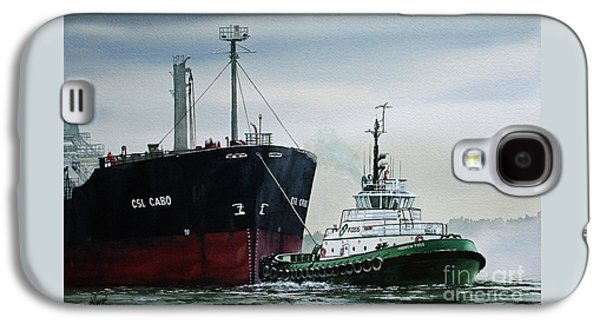 Tractor Prints Galaxy S4 Cases - ANDREW FOSS Ship Assist Galaxy S4 Case by James Williamson