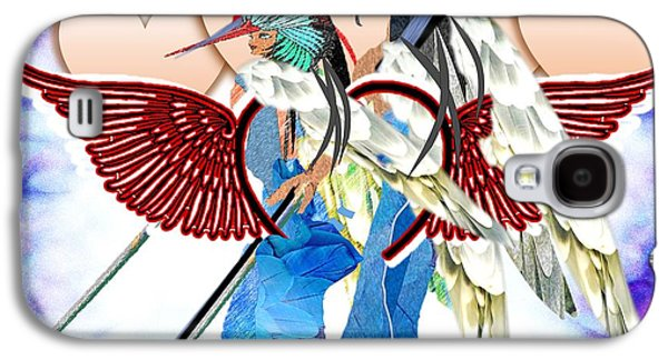 Religious Drawings Galaxy S4 Cases - Angel Fighters For Charity Galaxy S4 Case by Belinda Threeths