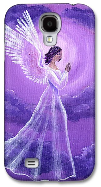 Night Angel Galaxy S4 Cases - Angel in Amethyst Moonlight Galaxy S4 Case by Laura Iverson
