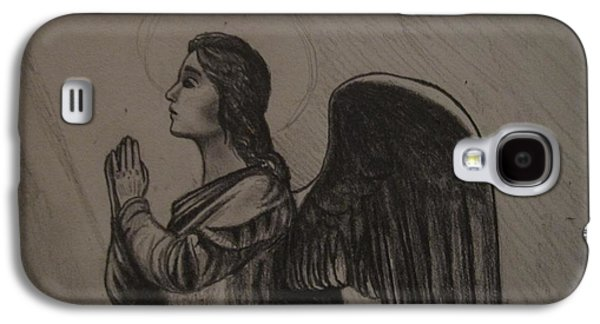 Religious Drawings Galaxy S4 Cases - Angel Galaxy S4 Case by MaryEllen Frazee