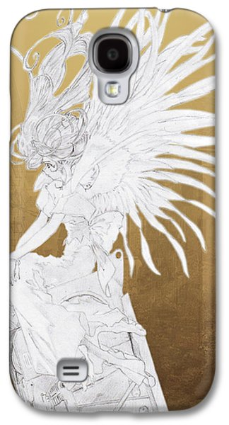 Machinery Galaxy S4 Cases - Angel Statue Galaxy S4 Case by Shawn Dall