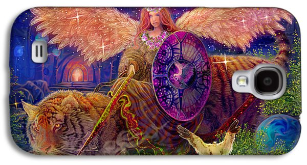 Angel Tarot Card Angel Fairy Dream Galaxy S4 Case by Steve Roberts