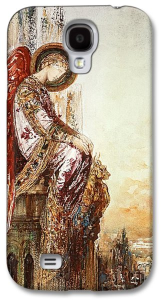 Watercolor Paintings Galaxy S4 Cases - Angel Traveller Galaxy S4 Case by Gustave Moreau