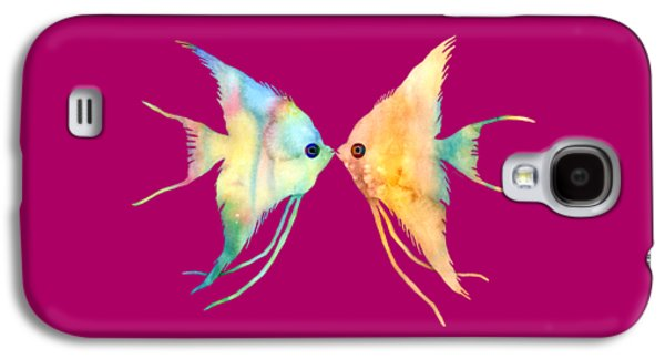 Angelfish Kissing Galaxy S4 Case by Hailey E Herrera