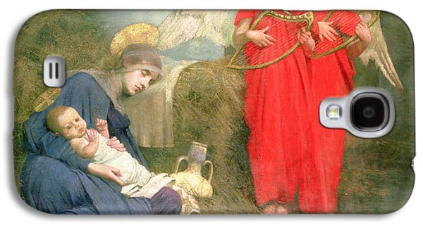 Christmas Cards - Galaxy S4 Cases - Angels Entertaining the Holy Child Galaxy S4 Case by Marianne Stokes