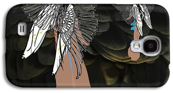 Religious Drawings Galaxy S4 Cases - Angels Of Righteous Love Galaxy S4 Case by Belinda Threeths