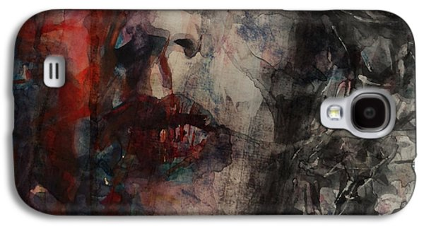 Musicians Paintings Galaxy S4 Cases - Angie I Still Love You Baby  Every Where I Look I See Your Eyes Galaxy S4 Case by Paul Lovering