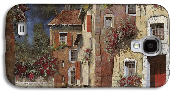 Night Paintings Galaxy S4 Cases - Angolo Buio Galaxy S4 Case by Guido Borelli