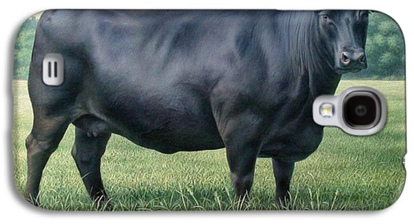 Black Angus Galaxy S4 Cases - Angus Cow 182M 2 2007 Galaxy S4 Case by Hans Droog
