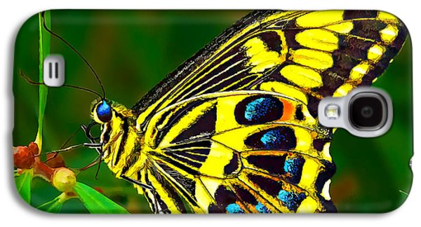 Photo Manipulation Galaxy S4 Cases - Anise Swallowtail Butterfly 1 Galaxy S4 Case by Bill Caldwell -        ABeautifulSky Photography