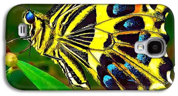 Photo Manipulation Galaxy S4 Cases - Anise Swallowtail Butterfly 2 Galaxy S4 Case by Bill Caldwell -        ABeautifulSky Photography