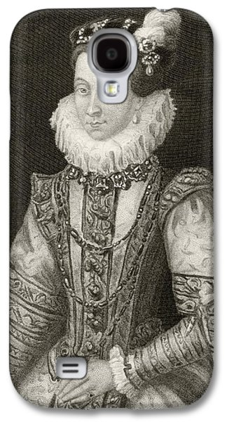 Austria Drawings Galaxy S4 Cases - Anna Of Austria, 1549 To 1580. Queen Galaxy S4 Case by Vintage Design Pics