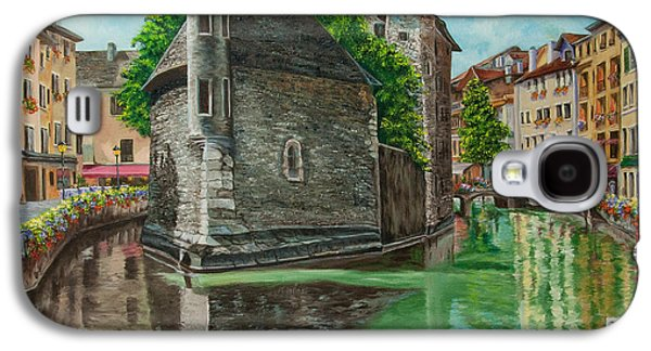 Jail Paintings Galaxy S4 Cases - Annecy-The Venice Of France Galaxy S4 Case by Charlotte Blanchard