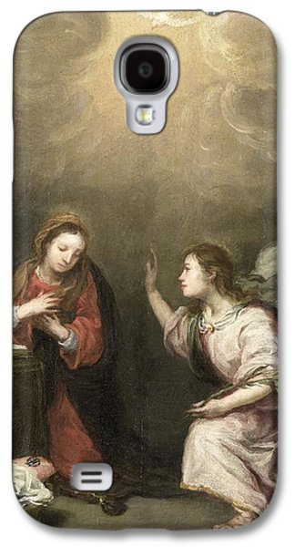 The Followers Paintings Galaxy S4 Cases - Annunciation to the Virgin Galaxy S4 Case by Celestial Images