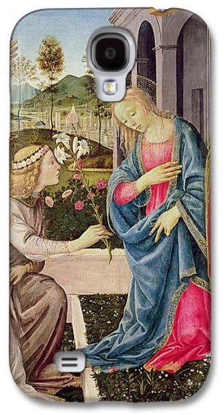 Annunciation With Saint Joseph And Saint John The Baptist Galaxy S4 Case by Filippino Lippi