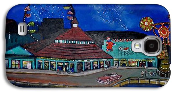 Asbury Park Casino Paintings Galaxy S4 Cases - Another memory of the Palace Galaxy S4 Case by Patricia Arroyo
