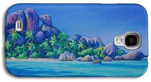 Original Art Pastels Galaxy S4 Cases - Anse Source dArgent La Digue Galaxy S4 Case by John Clark
