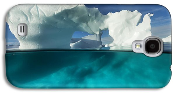 Enterprise Galaxy S4 Cases - Antarctica, Underwater View Of Arched Galaxy S4 Case by Paul Souders