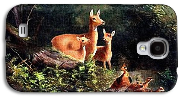 Abstract Landscape Galaxy S4 Cases - Antelope In the Forest  H B Galaxy S4 Case by Gert J Rheeders