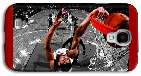 Dunk Mixed Media Galaxy S4 Cases - Anthony Davis Galaxy S4 Case by Brian Reaves