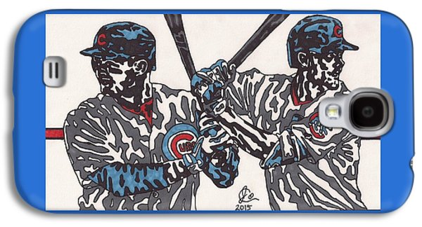 Bryant Drawings Galaxy S4 Cases - Anthony Rizzo and Chris Bryant Galaxy S4 Case by Jeremiah Colley