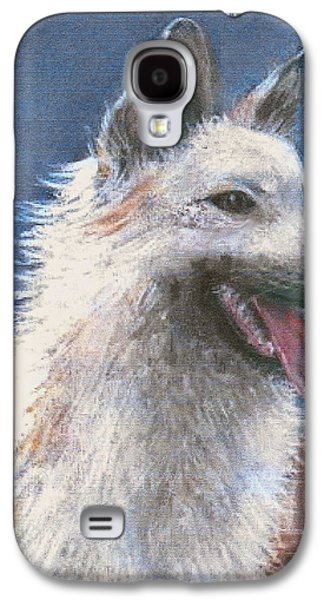 Dogs Pastels Galaxy S4 Cases - Anticipating Their Return Galaxy S4 Case by Arline Wagner