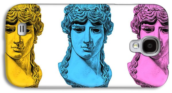 Bust Sculptures Galaxy S4 Cases - Antinous _ V7 Galaxy S4 Case by Bruce Algra