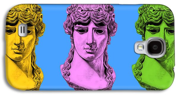 Bust Sculptures Galaxy S4 Cases - Antinous _ V8 Galaxy S4 Case by Bruce Algra