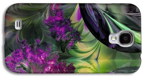 Waterscape Paintings Galaxy S4 Cases - Antipodean Moonrise Galaxy S4 Case by Mindy Sommers