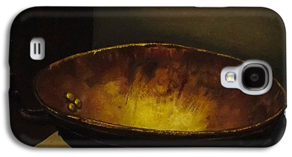 Rivets Paintings Galaxy S4 Cases - Antique brass bowl Galaxy S4 Case by Mitzisan Art LLC