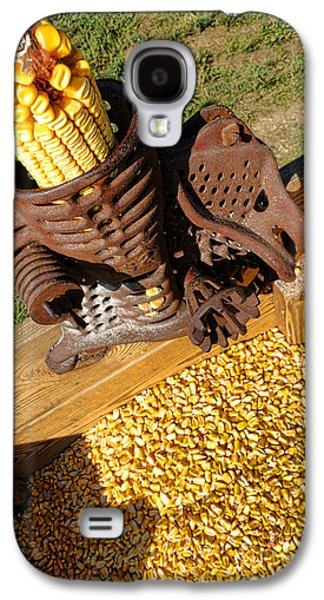 Machinery Galaxy S4 Cases - Antique Corn Sheller Galaxy S4 Case by Olivier Le Queinec
