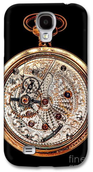 Mechanism Galaxy S4 Cases - Antique Hamilton Railroad Watch Movement  Galaxy S4 Case by Olivier Le Queinec