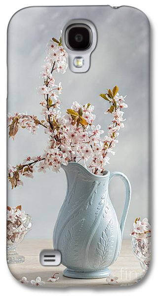 Cherry Blossoms Galaxy S4 Cases - Antique Jug With Blossom Galaxy S4 Case by Amanda And Christopher Elwell