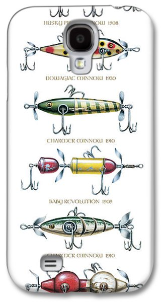 Tackle Galaxy S4 Cases - Antique Lure Panel Galaxy S4 Case by JQ Licensing