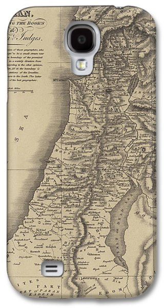 Antique Map Of Canaan Galaxy S4 Case by English School