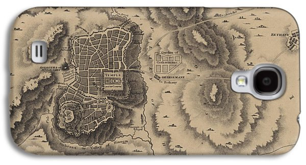 Antique Map Of Jerusalem Galaxy S4 Case by English School