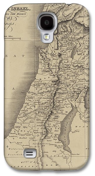 Antique Map Of Judah And Israel Galaxy S4 Case by English School