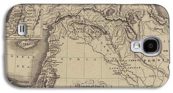 Antique Map Of Mesopotamia With Canaan And Other Parts Of The Middle East Galaxy S4 Case by English School