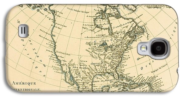 Antique Map Of North America Galaxy S4 Case by Guillaume Raynal