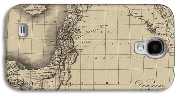 Antique Map Of The Kingdoms Of King David And King Solomon Galaxy S4 Case by English School