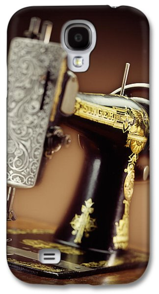 Kelley King Galaxy S4 Cases - Antique Singer Sewing Machine 2 Galaxy S4 Case by Kelley King