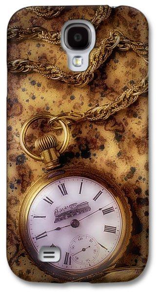 Antique Train Pocket Watch Galaxy S4 Case by Garry Gay