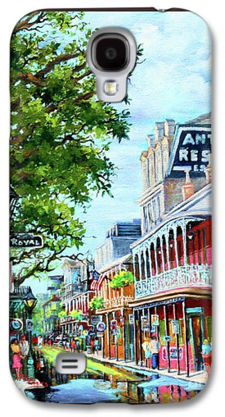 French Quarter Paintings Galaxy S4 Cases - Antoines Galaxy S4 Case by Dianne Parks