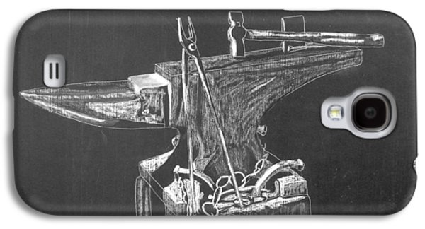 Machinery Galaxy S4 Cases - Anvil Galaxy S4 Case by Richard Le Page
